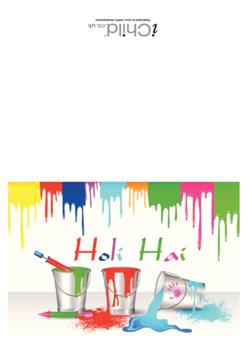 Thumbnail image for the Holi Hai Card activity.