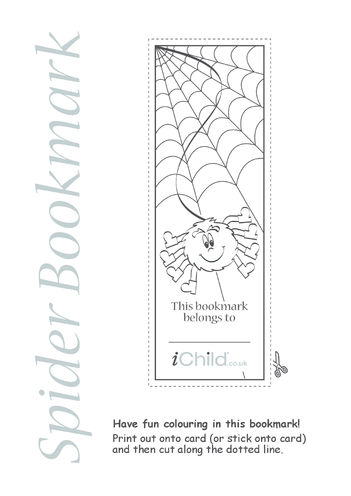 Thumbnail image for the Spider Bookmark activity.