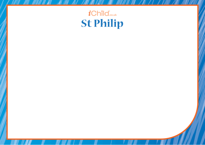 Thumbnail image for the St. Philip The Apostle Blank Drawing Template activity.