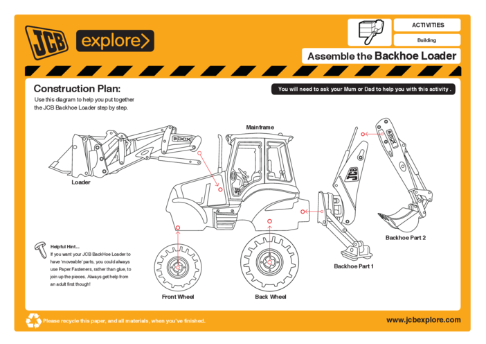 Thumbnail image for the Build the Backhoe activity.