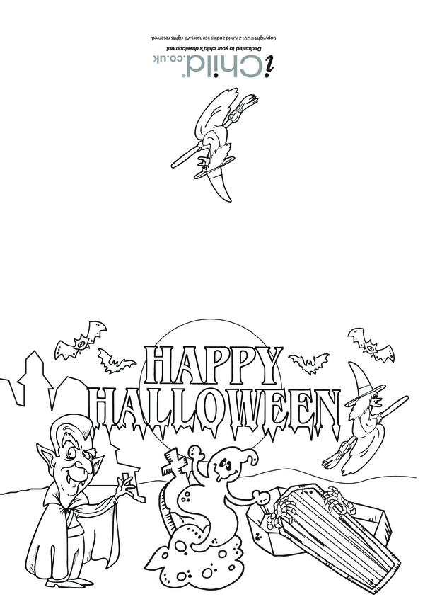 Halloween Card (Graveyard Scene)
