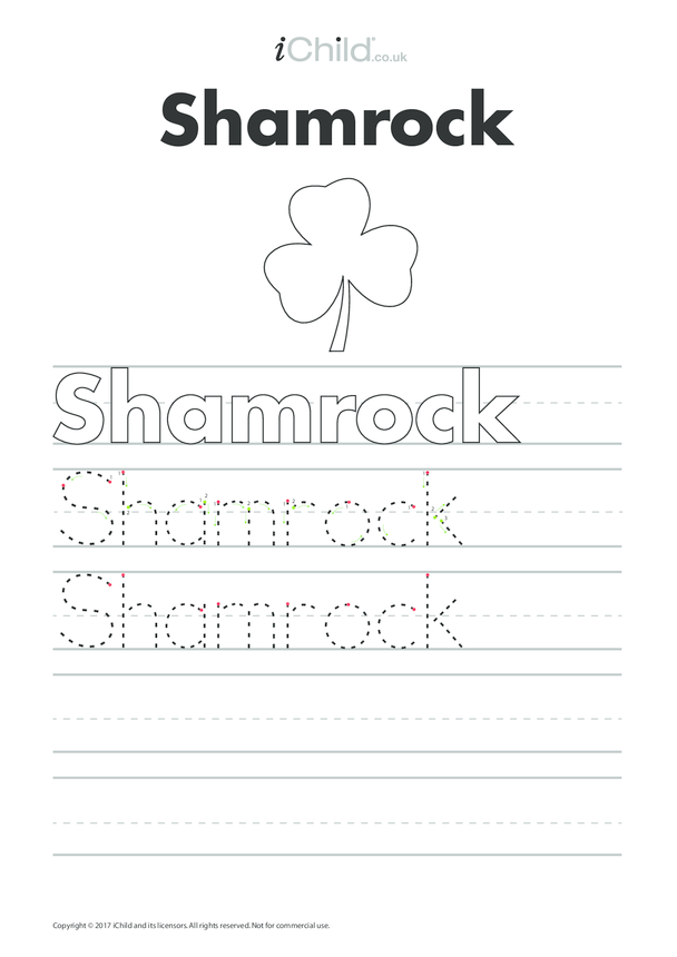 Shamrock Handwriting Practice Sheet