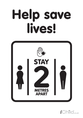 Thumbnail image for the Help save lives: social distancing - Poster (black & white) activity.