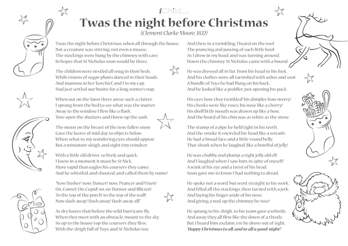 Thumbnail image for the Poem - 'Twas The Night Before Christmas activity.