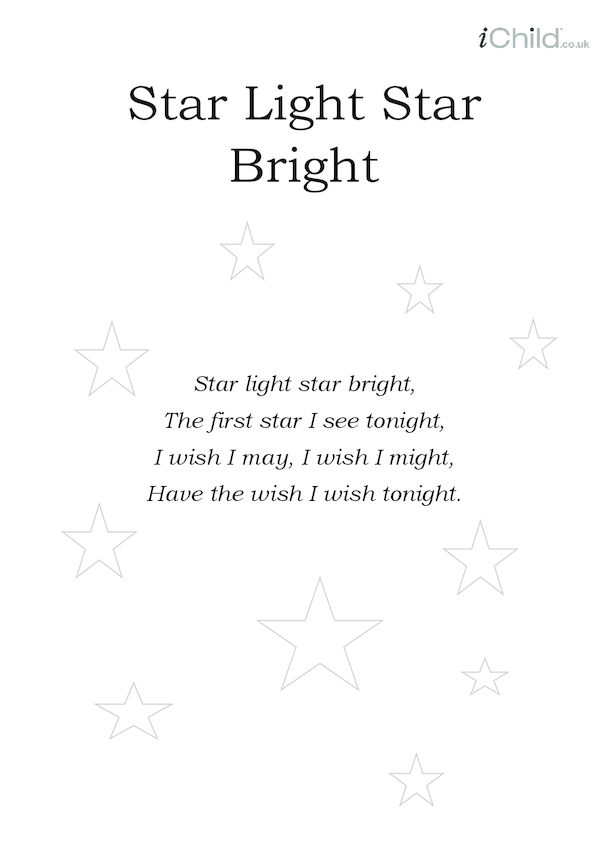 Star Light, Star Bright Lyrics