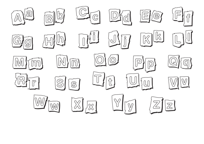 Thumbnail image for the Alphabet (black & white) Signs & Poster activity.