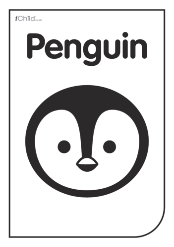 Thumbnail image for the Black & White Poster: Penguin Face activity.