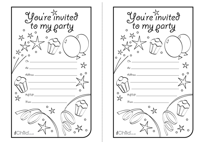 Thumbnail image for the Birthday Party Invitation templates activity.