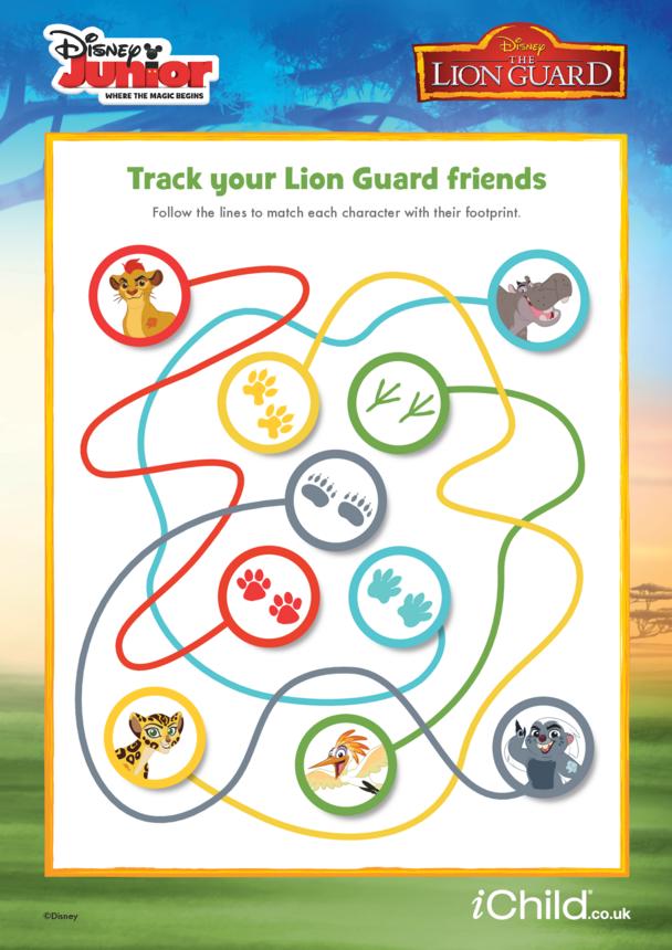 The Lion Guard: Track your Lion Guard Friends- Disney Junior