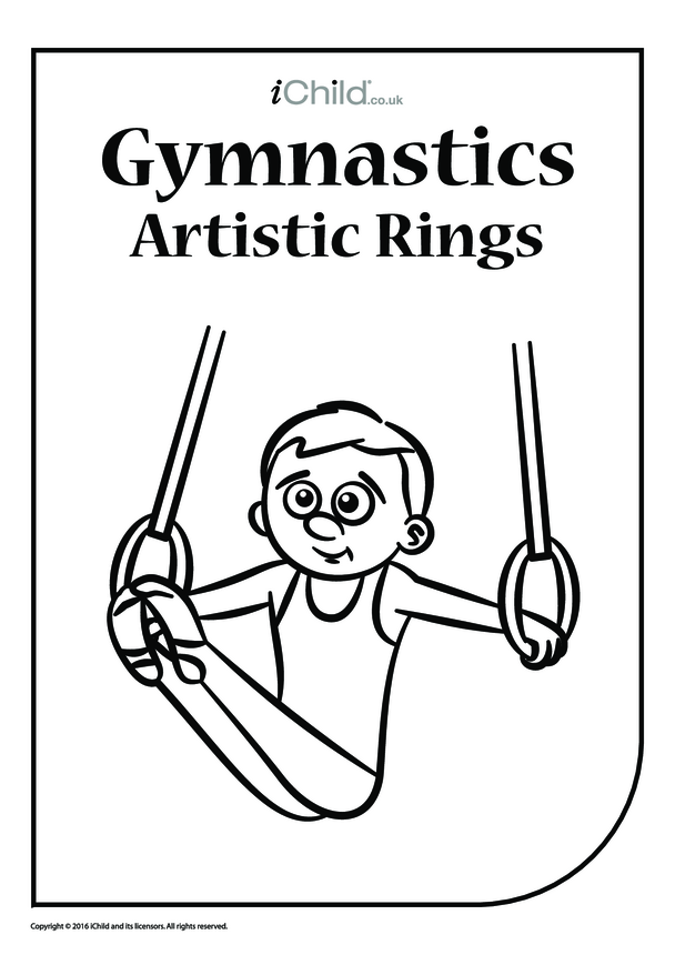 Gymnastics Rings Colouring in Picture