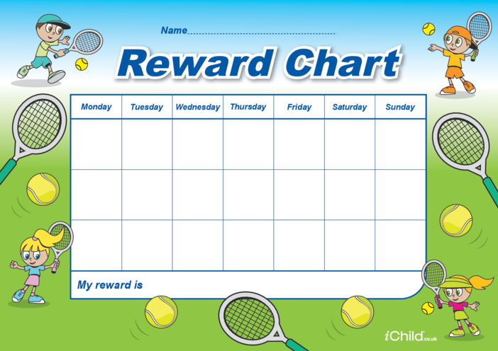 Thumbnail image for the Tennis Reward Chart activity.