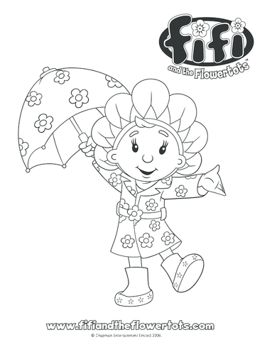 Thumbnail image for the In the Rain Colouring in picture activity.