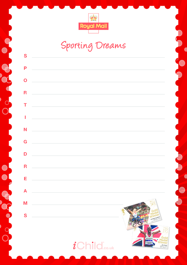 Royal Mail 'Sporting Dreams' Acrostic Poem