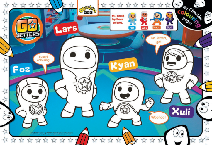 Thumbnail image for the Go Jetters Colouring in Picture activity.