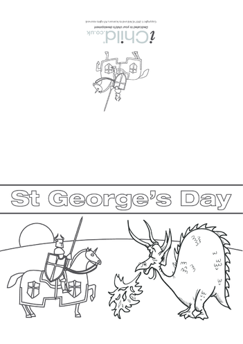 Thumbnail image for the St. George's Day Card: Knight 'V' Dragon activity.