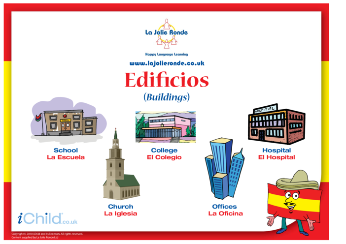 Thumbnail image for the Buildings in Spanish activity.