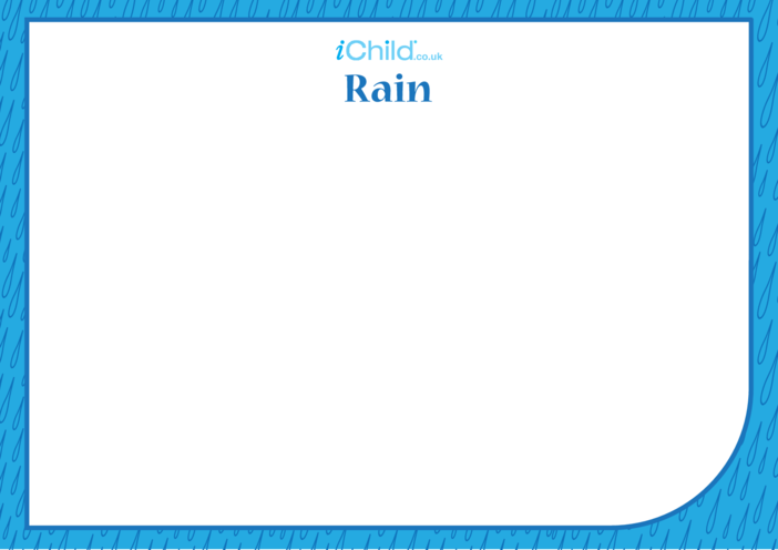 Thumbnail image for the Pavarana Blank Drawing Template (Rain) activity.