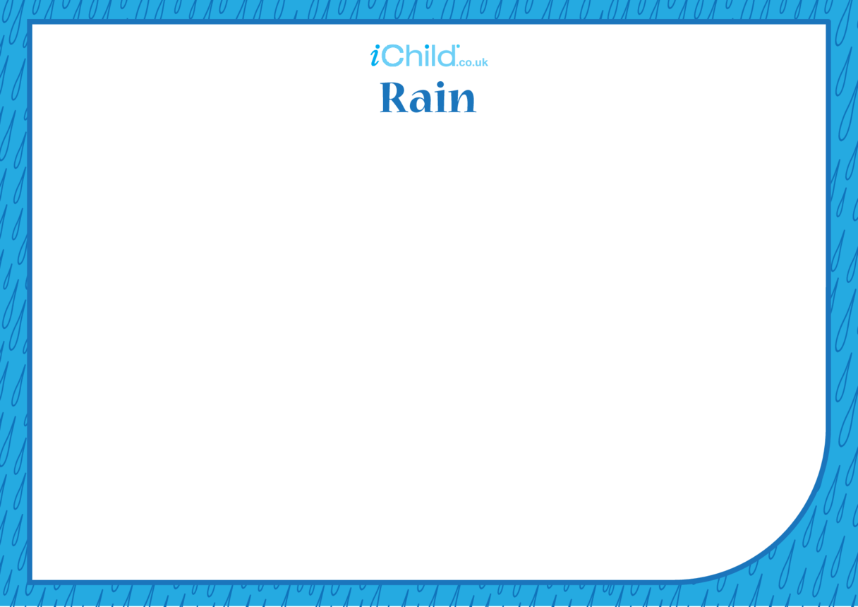 Pavarana Blank Drawing Template (Rain)