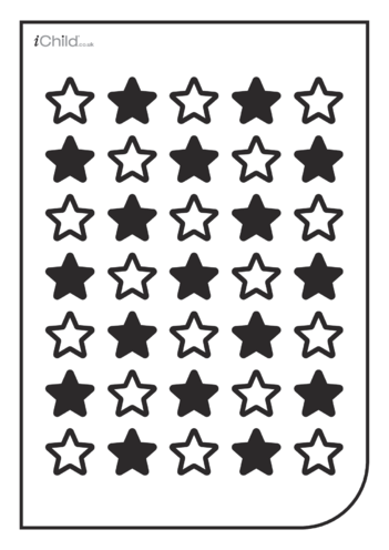 Thumbnail image for the White & Black Poster: Star Pattern activity.