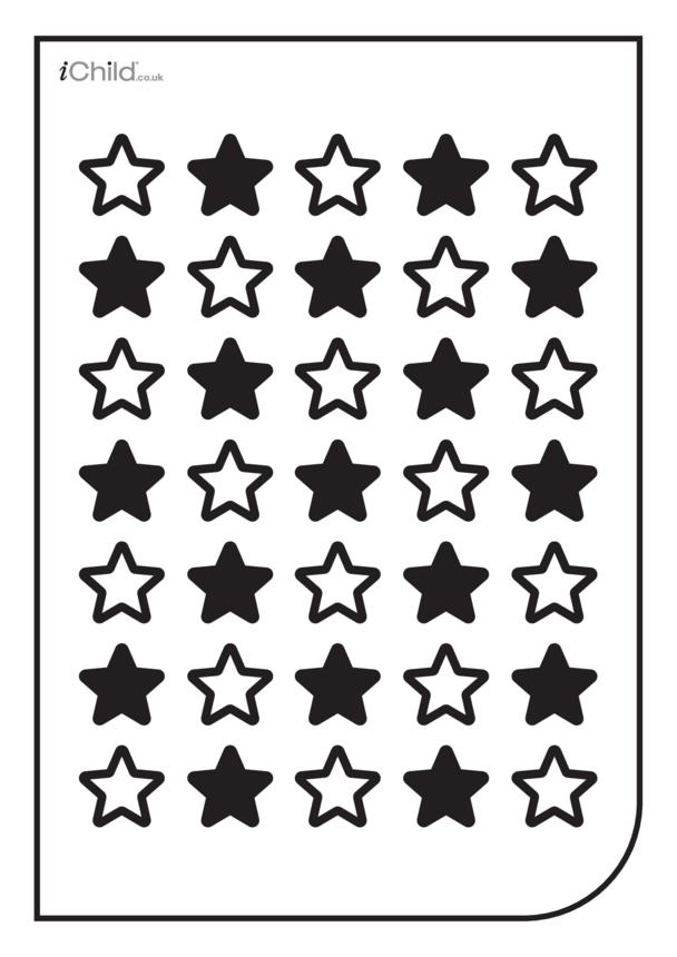 White & Black Poster: Star Pattern