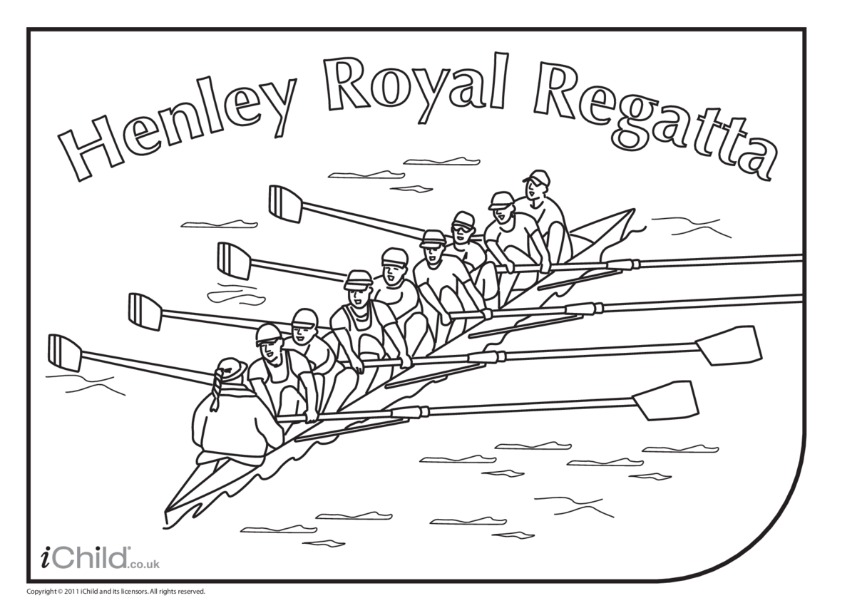 Rowing Boat Colouring in picture