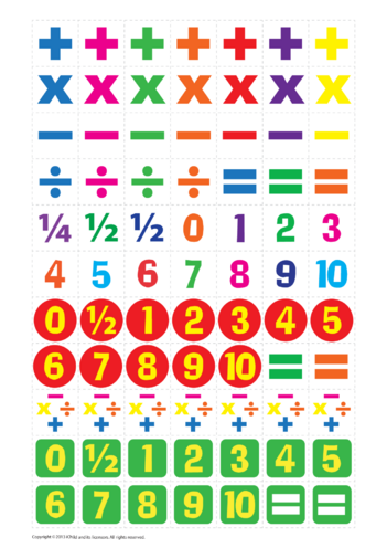 Thumbnail image for the Maths Reward Chart Stickers activity.