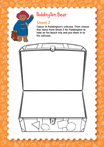 Thumbnail image for the Paddington Bear: Help Paddington Choose What To Take On Holiday (EYFS/KS1) activity.