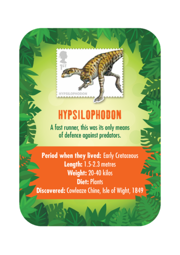Thumbnail image for the Dinosaur Fact Card- Hypsilophodon (A4) activity.