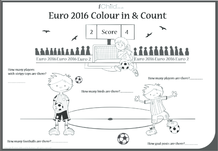 Thumbnail image for the Euro 2016 Colour in & Count activity.