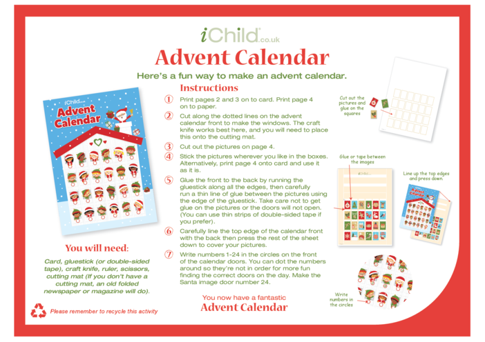 Thumbnail image for the Advent Calendar Craft activity.