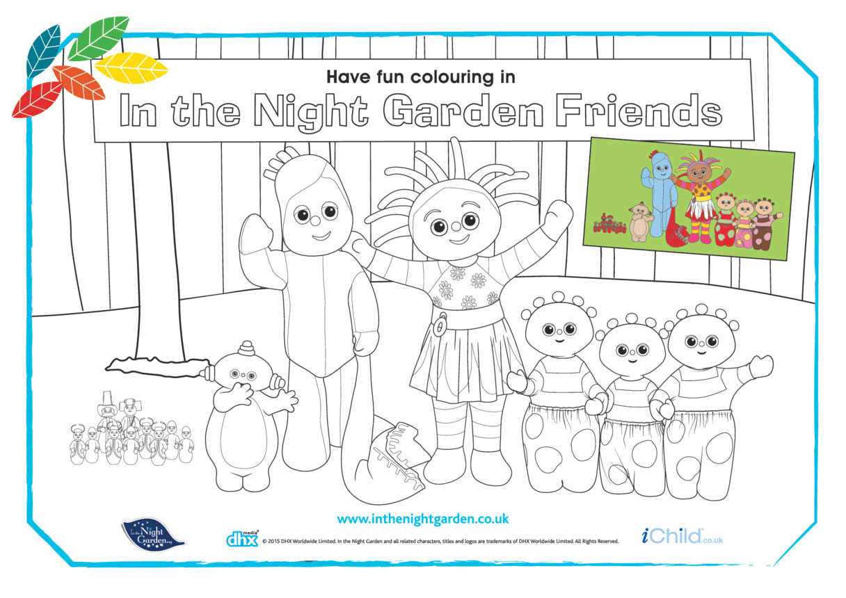 In the Night Garden Friends Colouring in Picture