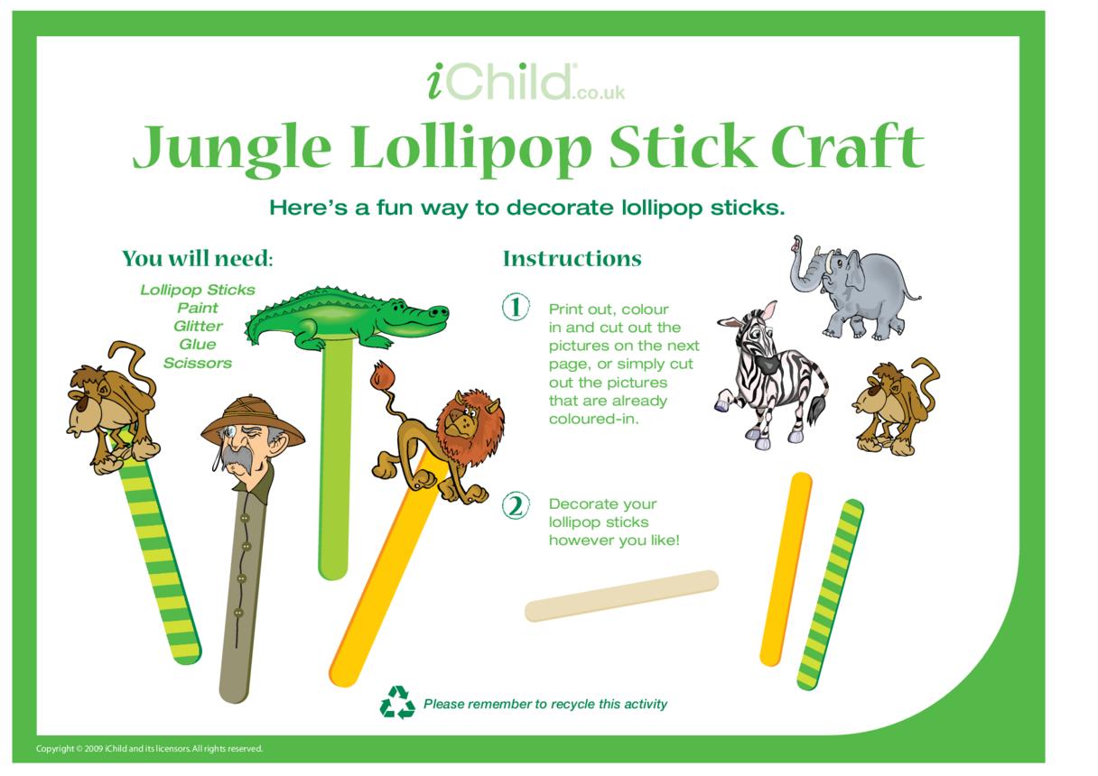 Lollipop Stick Craft - Jungle