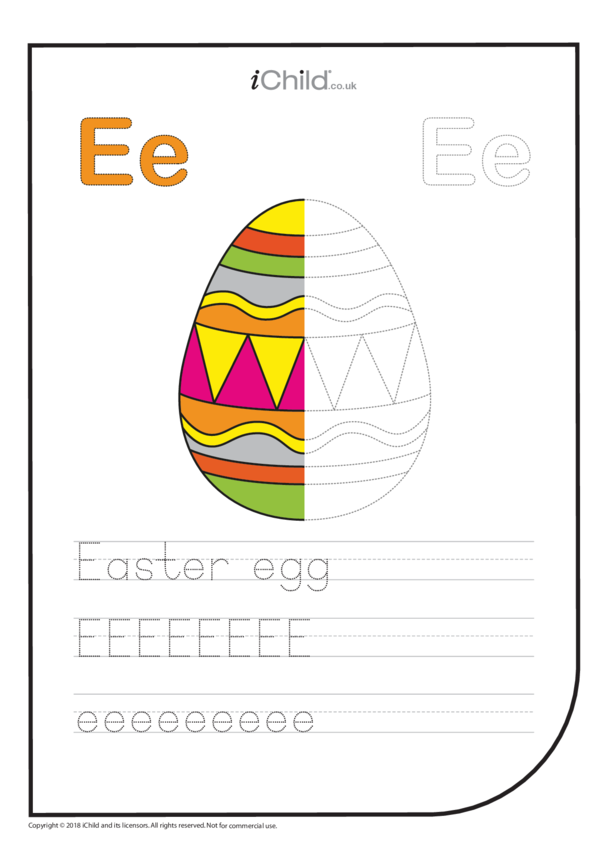 E: Write the Letter E for Egg
