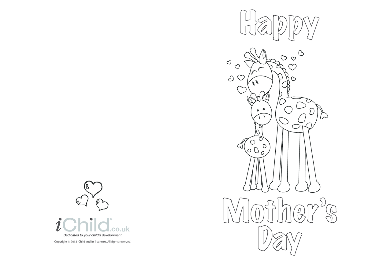 Mother's Day Card- Giraffe