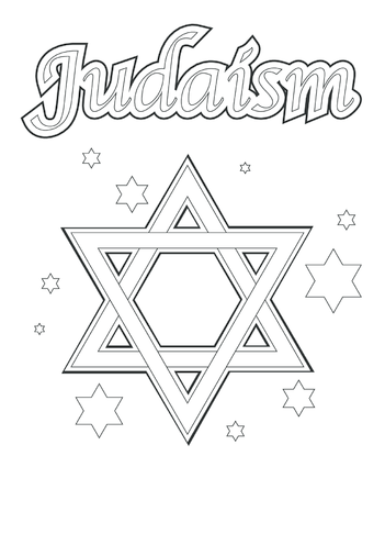 Thumbnail image for the Judaism (black & white) - Signs & Posters activity.