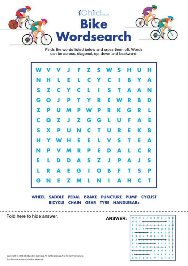 Bike Wordsearch