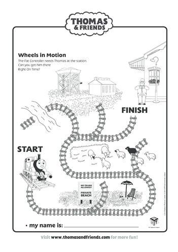 Thumbnail image for the Wheels in Motion (Thomas & Friends) activity.