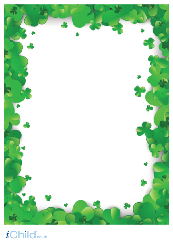 St. Patrick's Day Clover Writing Paper