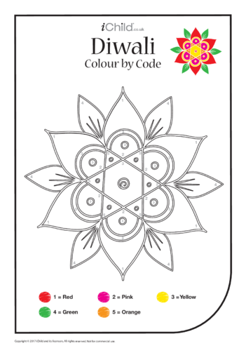 Thumbnail image for the Diwali Colour by Code activity.