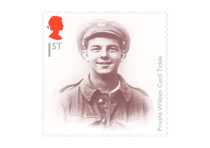 Thumbnail image for the Royal Mail iStamp Club The Great War 1914 - Private Tickle Stamp activity.