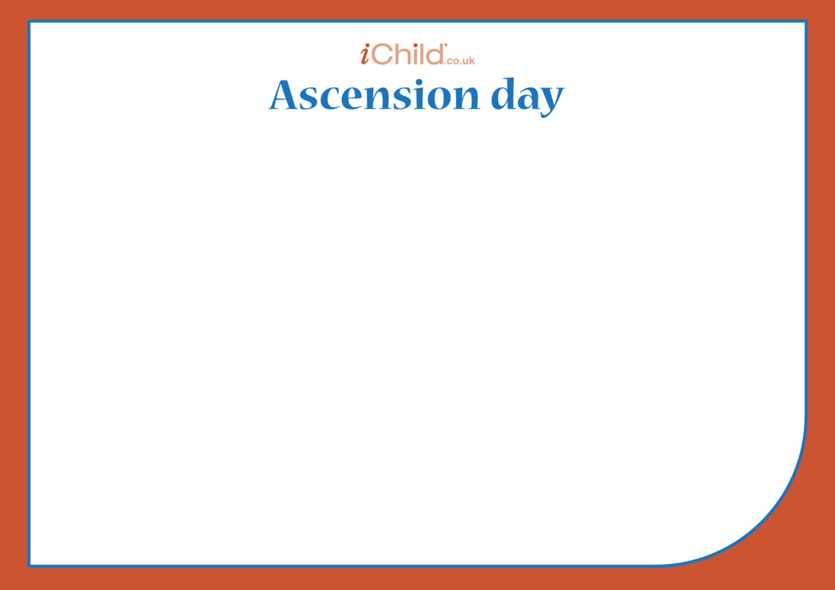 Ascension Day Blank Drawing Template