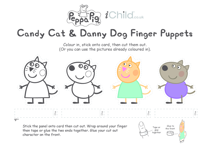 Thumbnail image for the Finger Puppets: Candy Cat & Danny Dog activity.