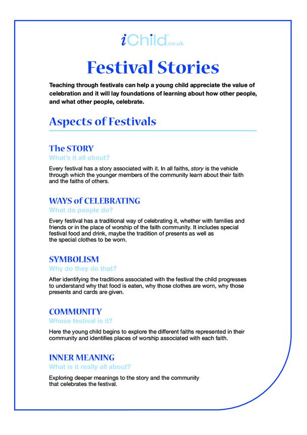 1- Religious Festival Instruction Sheet