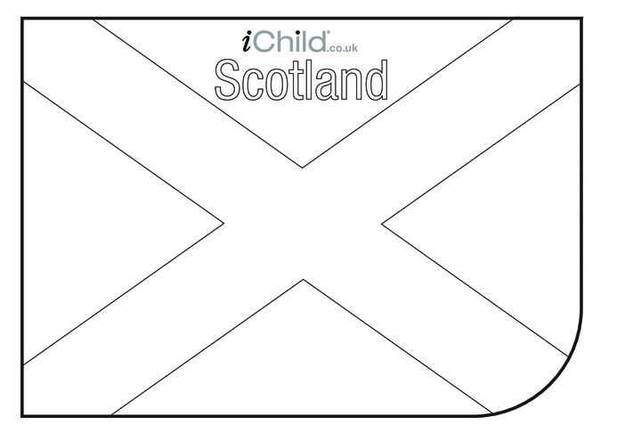 Thumbnail image for the Scottish Flag Colouring in picture (flag of Scotland) activity.