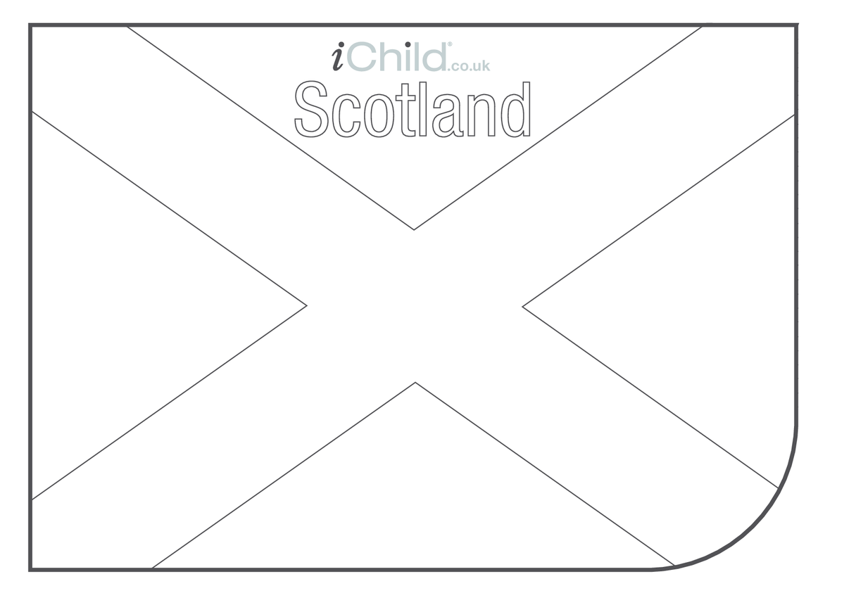 Scottish Flag Colouring in picture (flag of Scotland)