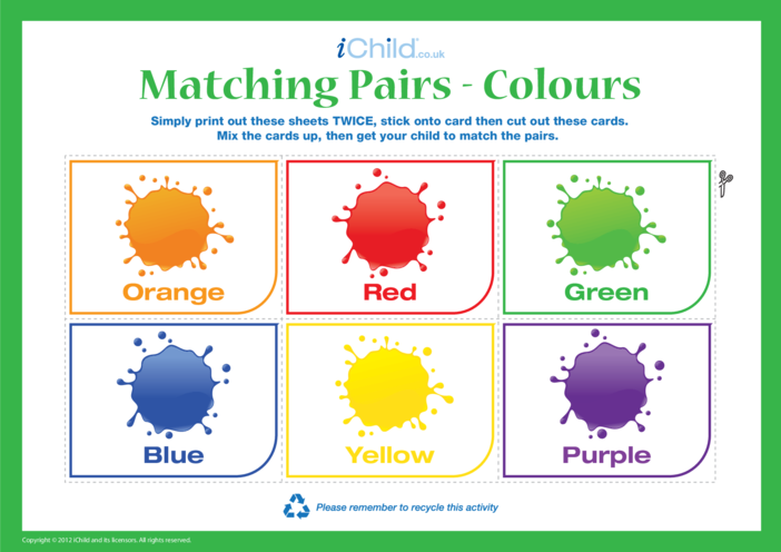 Thumbnail image for the Matching Colours activity.