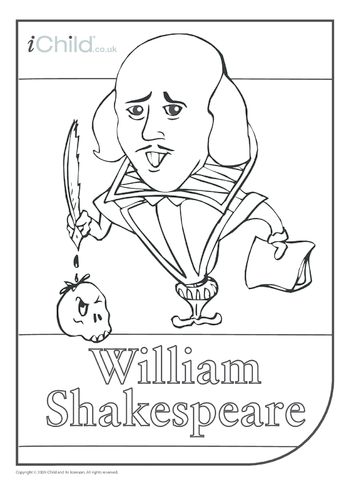 Thumbnail image for the Shakespeare Colouring in picture activity.