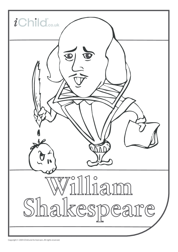 Shakespeare Colouring in picture