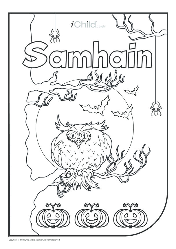 Samhain Colouring in Picture