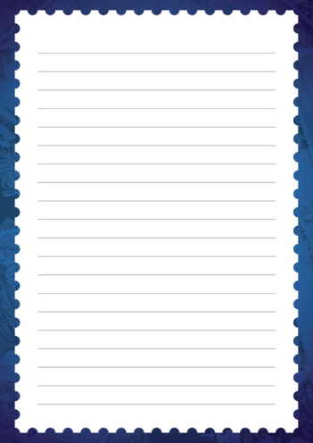 Thumbnail image for the 2013_Primary 4) Letter Writing Blank Lined Writing Paper Template activity.